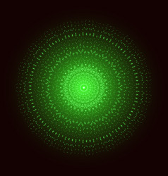 green light mandala abstract ornament vector image