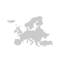 Grey Map Europe In The Dot vector