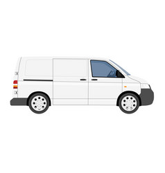 hi-detailed cargo delivery van template vector image