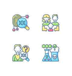 Human reproduction rgb color icons set vector