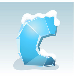 Ice letter c vector