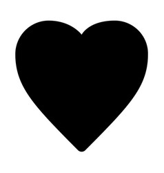 image a heart icon isolated vector image