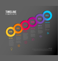 infographic milestones timeline template vector image