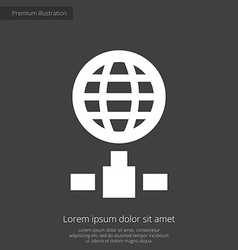 internet premium icon white on dark background vector image