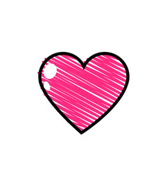 Isolated pink heart design vector