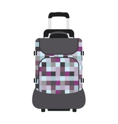 Journey suitcase travel bag trip baggage vacation vector