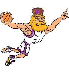 king sports logo mascot basketball vector image
