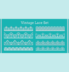 lace borders seamless decorative frills with vector image