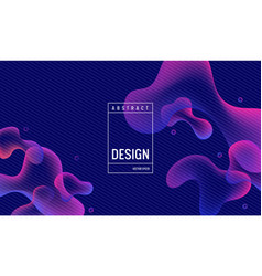 Liquid gradient color background design fluid vector