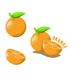 Logo icon design orange farm vector