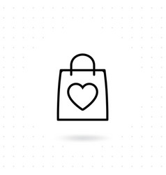 love shopping icon vector image