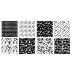 memphis seamless patterns geometric lines vector image