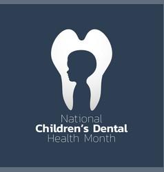 National children dental health month icon design vector