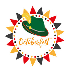 oktoberfest frames flat or cartoon style vector image