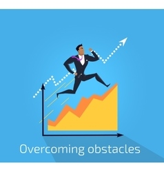 Overcoming obstacles banner design vector