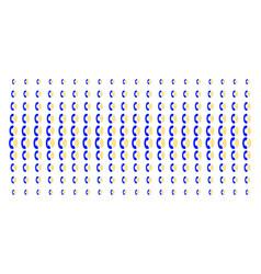 Phone ring shape halftone grid vector