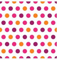 purple pink orange polka dots on white background vector image