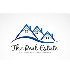 real estate selling houses logo vector image