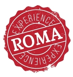 Roma stamp rubber grunge vector