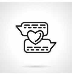 Romantic chat simple line icon vector image