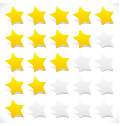 rounded stars star rating 5 star rating graphics vector image