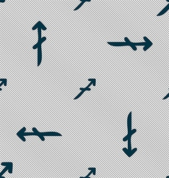 Sagittarius sign Seamless pattern with geometric vector