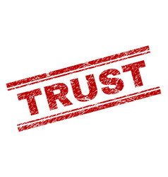 Scratched textured trust stamp seal vector