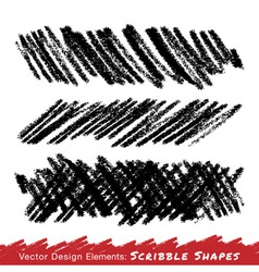 Scribble Smears Hand Drawn in Pencil vector