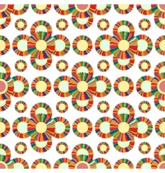 Seamless geometric pattern flowers bright vector image