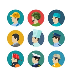 Set of profession icons vector