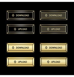 Set of the golden buttons vector image