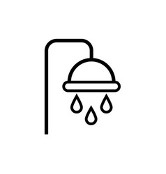 Shower tap with drops line style vector