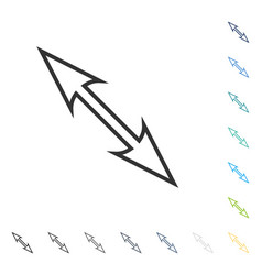 Size arrow diagonal icon vector
