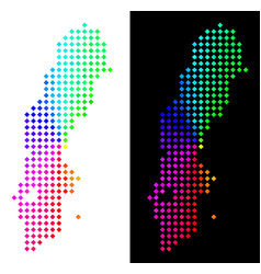 Spectral dot sweden map vector