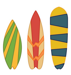 Surfboards collection isolated on white background vector