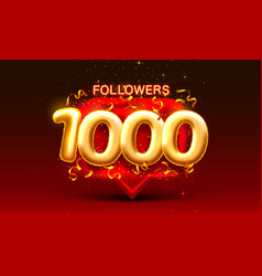 Thank you followers peoples 1k online social vector