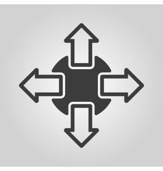 The navigation icon Arrows symbol Flat vector image