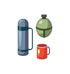 Thermos Mug And Flask vector