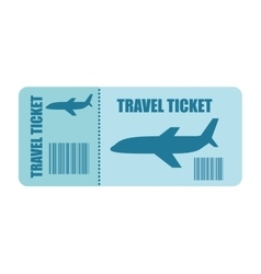 ticket fly isolated icon design vector image