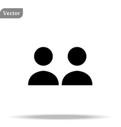 Two person icon social icon isolated on white vector