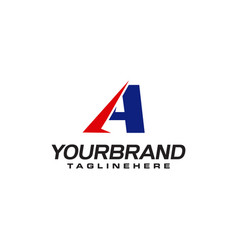 unique logo that forms letter a matches your vector image