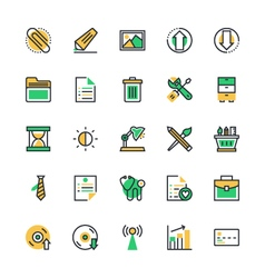 User Interface and Web Colored Icons 5 vector image