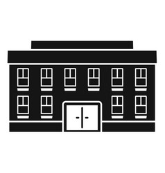 Village courthouse icon simple style vector