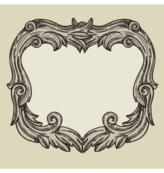 Vintage frame with copy space vector