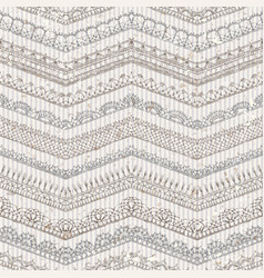 Vintage seamless pattern lacy crochet edges vector