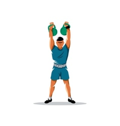 Weight lifting sign vector