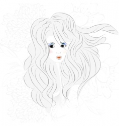 woman's face vector image vector image