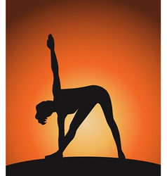 Yoga woman in triangle pose vector image