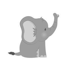 Baby elephant cartoon vector