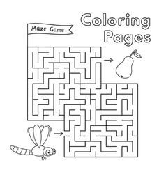cartoon dragonfly maze game vector image